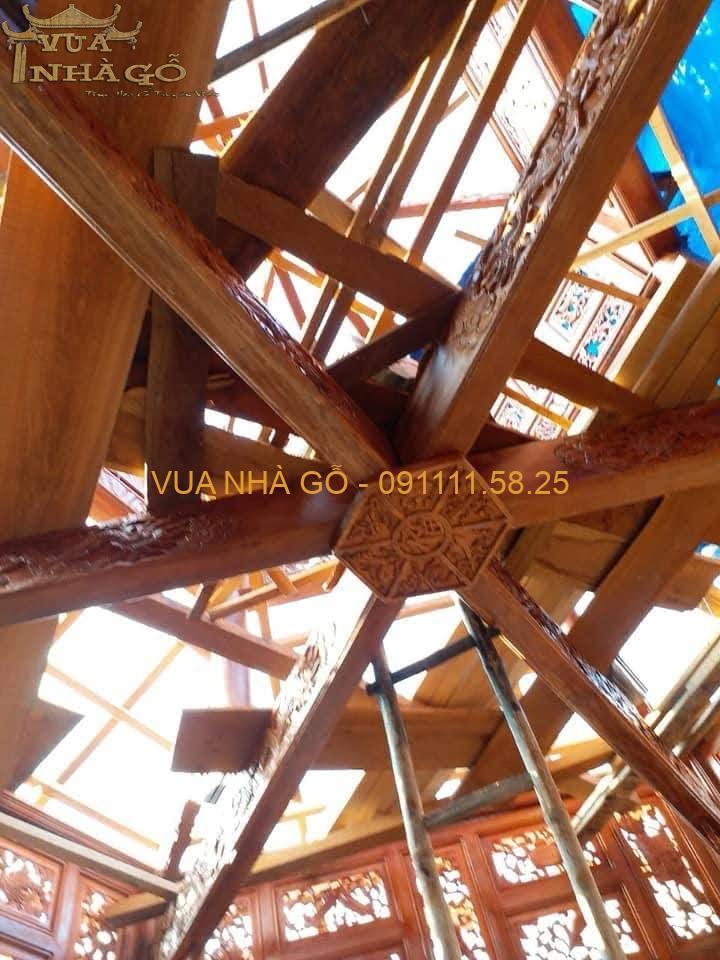 nhà chòi gỗ lim, nhà chòi gỗ đẹp, nhà chòi gỗ 8 góc, nhà chòi gỗ cao cấp, lim nam phi, vua nhà gỗ