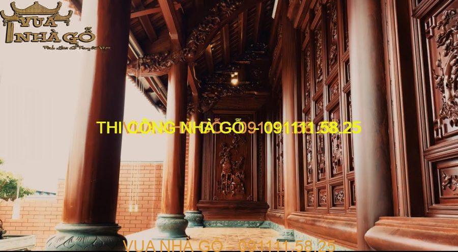 nhà gỗ 3 gian, nhà gỗ lim nam phi, nhà gỗ đẹp, nhà gỗ xoan, nhà gỗ 3 gian đẹp, vua nhà gỗ, lim nam phi, căm xe.